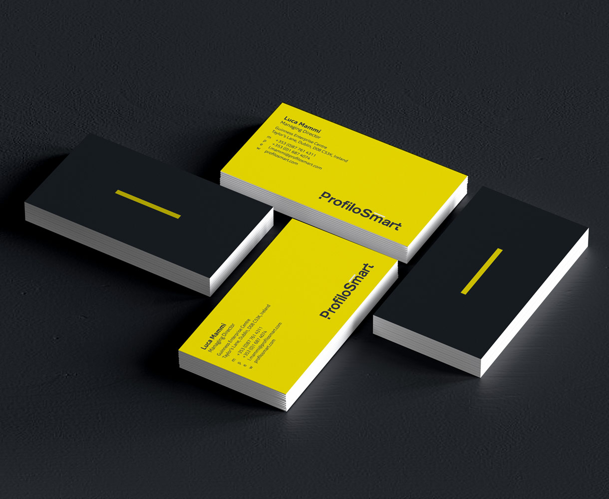ProfiloSmart Brand identity stationery suite business cards