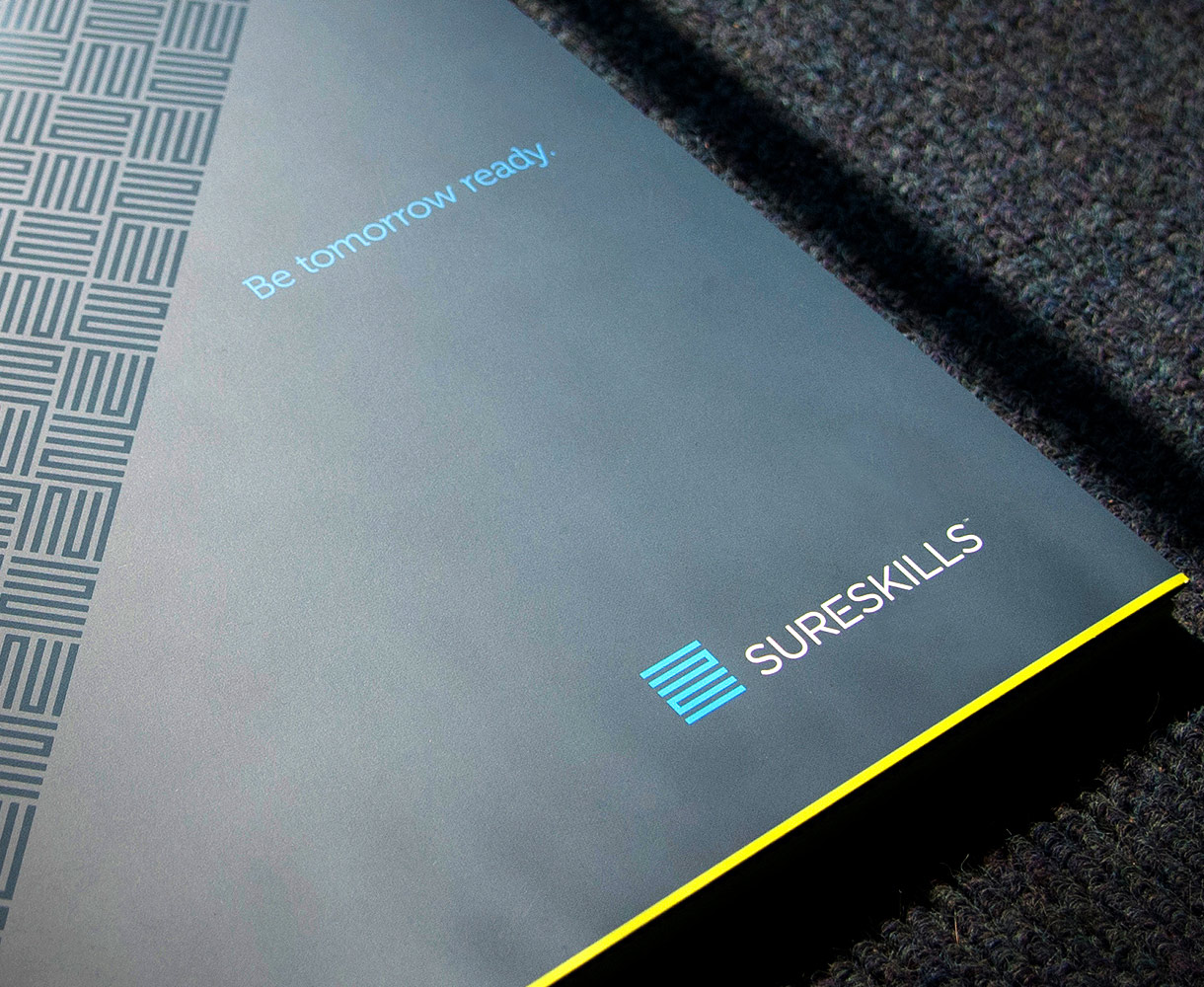 Sureskills Brand Identity Development brochure design