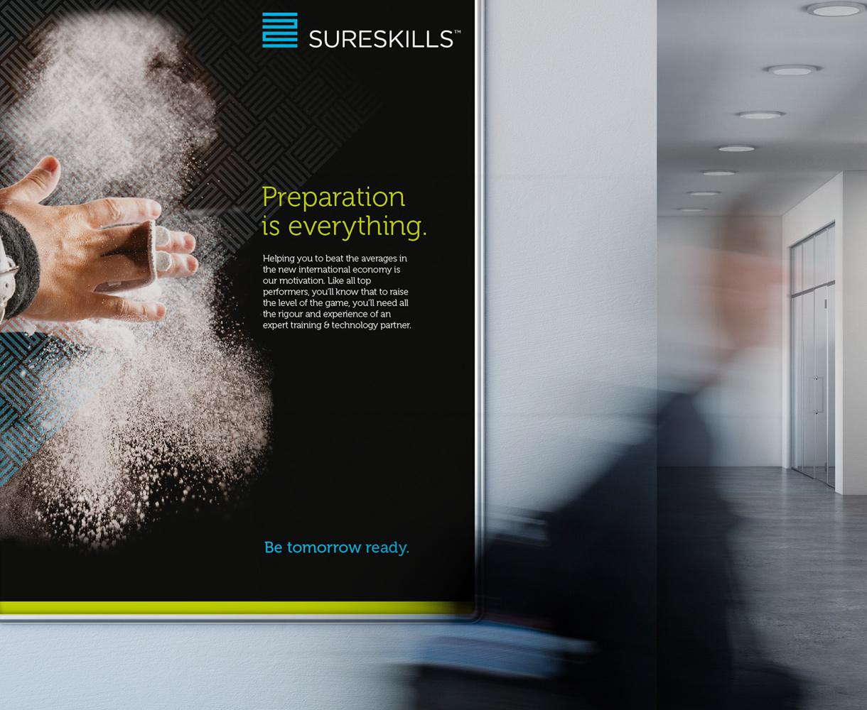 Sureskills Brand Identity Development Poster design