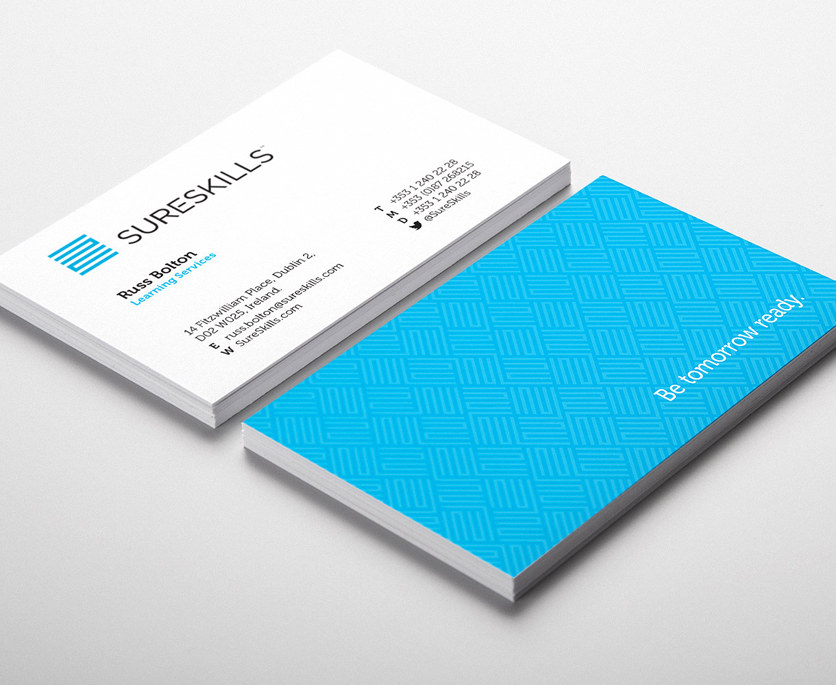 Sureskills Brand Identity Development stationery suite business cards
