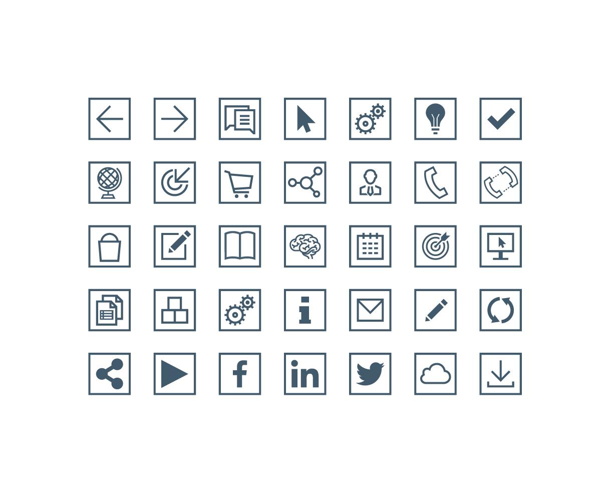 Sureskills Brand Identity Development Icons
