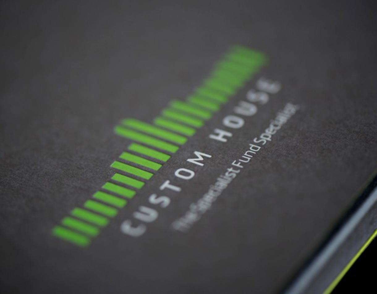 Principle brand agency Dublin Custom House Group branding project logo brochure detail