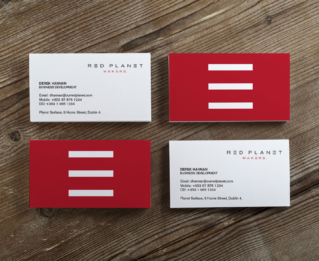 Red Planet Brand Development stationery suite business cards