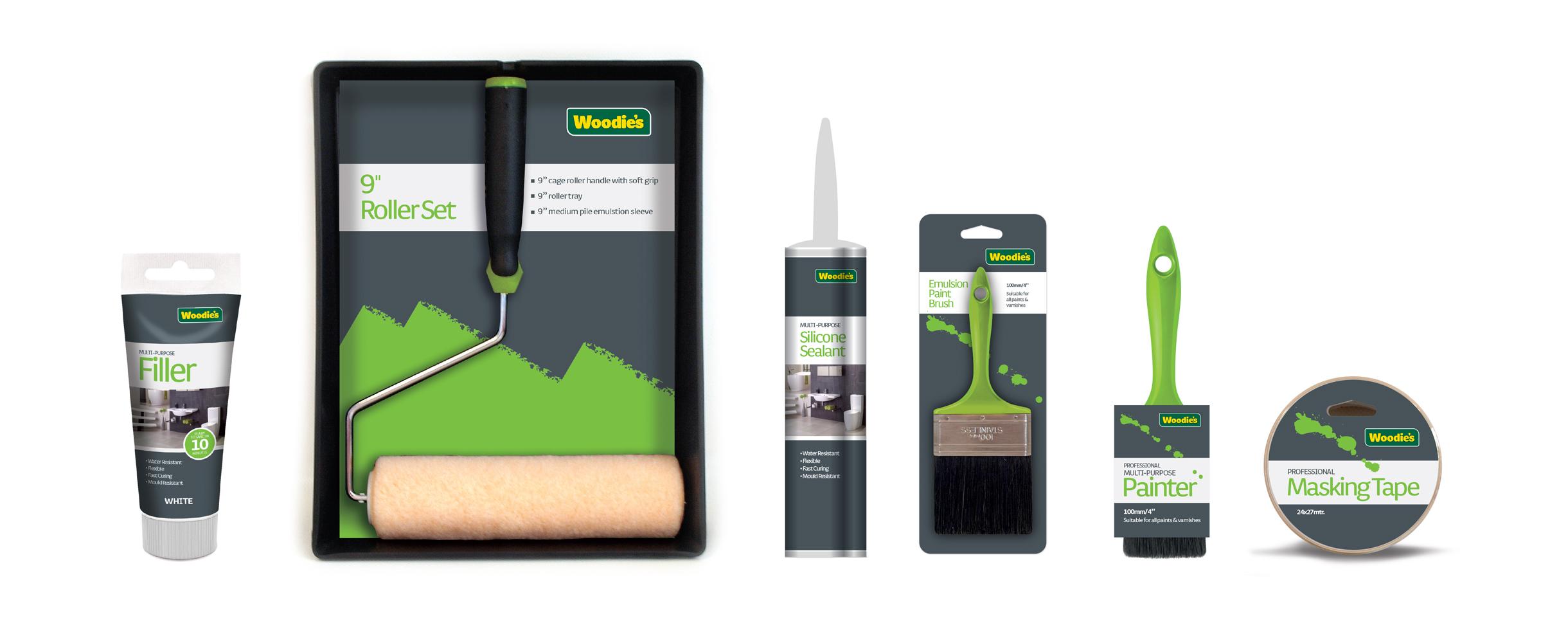 Woodie's Core Packaging design