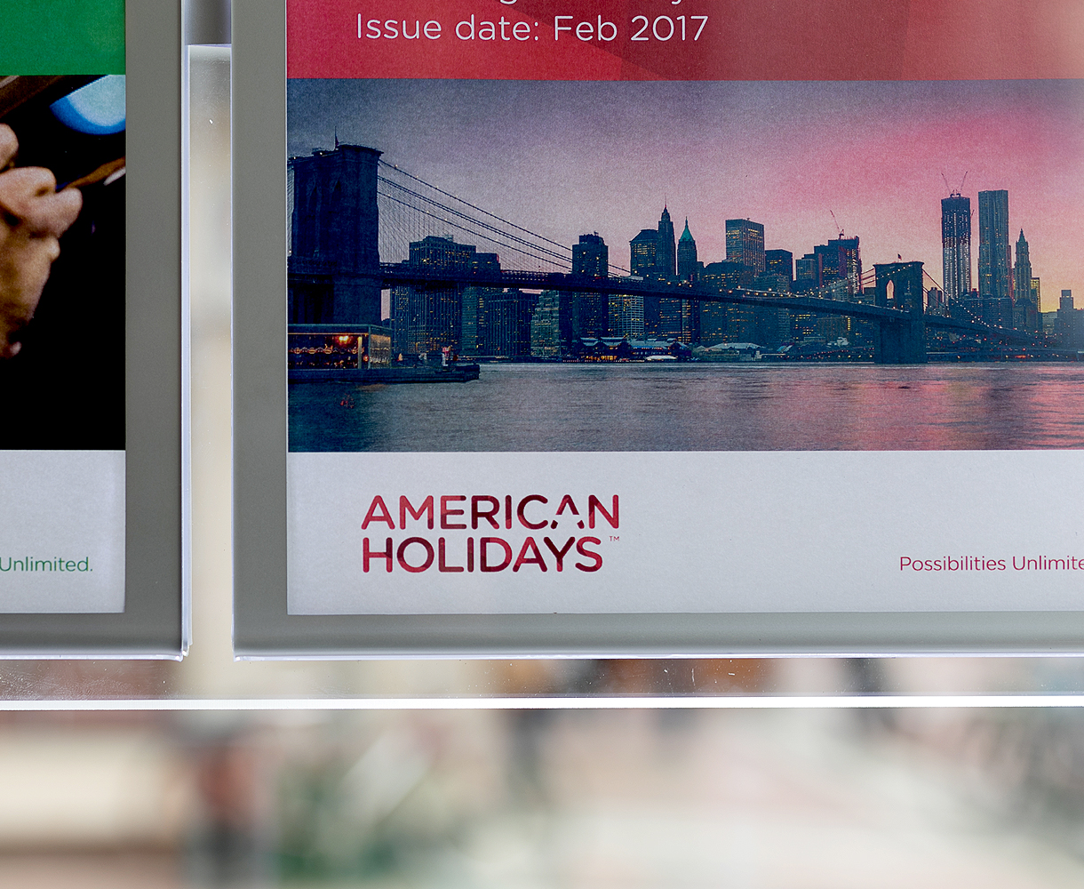 American Holidays poster design brand development rollout