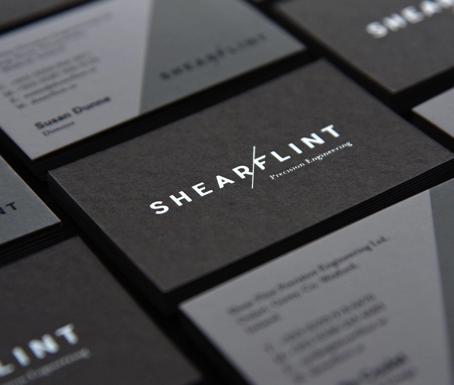 Principle brand agency Dublin Shearflint Branding Project business cards design