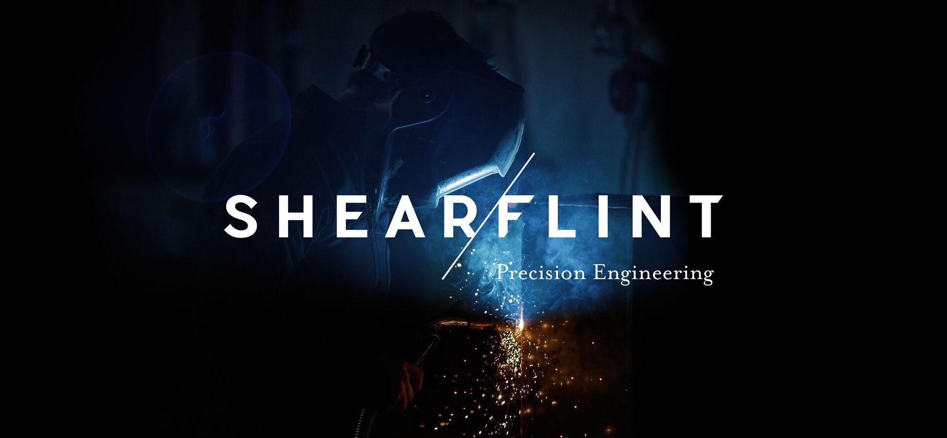 Principle brand agency Dublin Shearflint Branding Project logo white steelworker