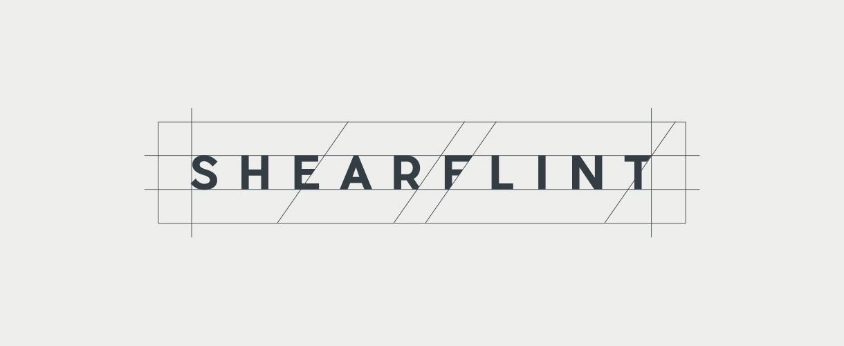 Principle brand agency Dublin Shearflint Branding Project logotype structure