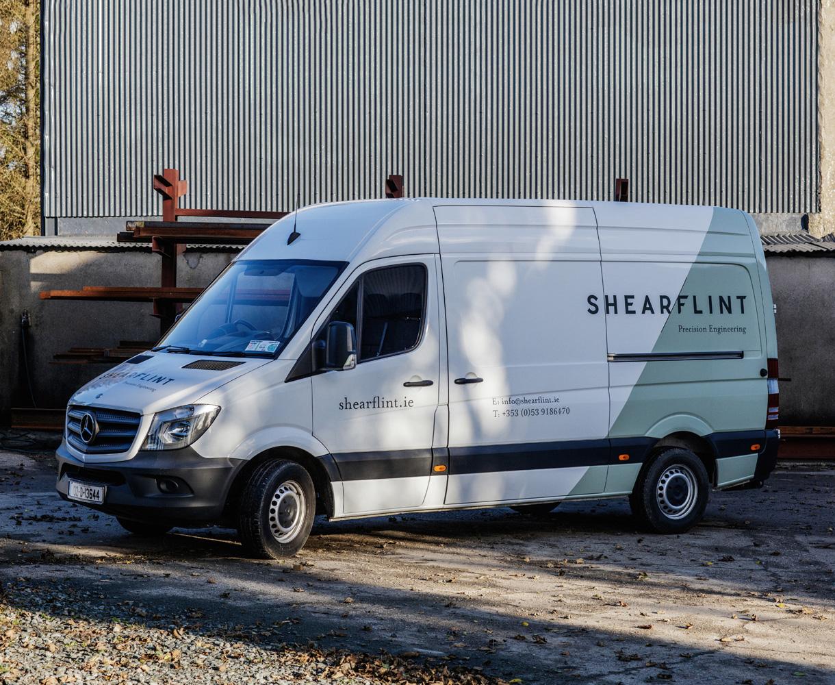 Principle brand agency Dublin Shearflint brand project van livery design