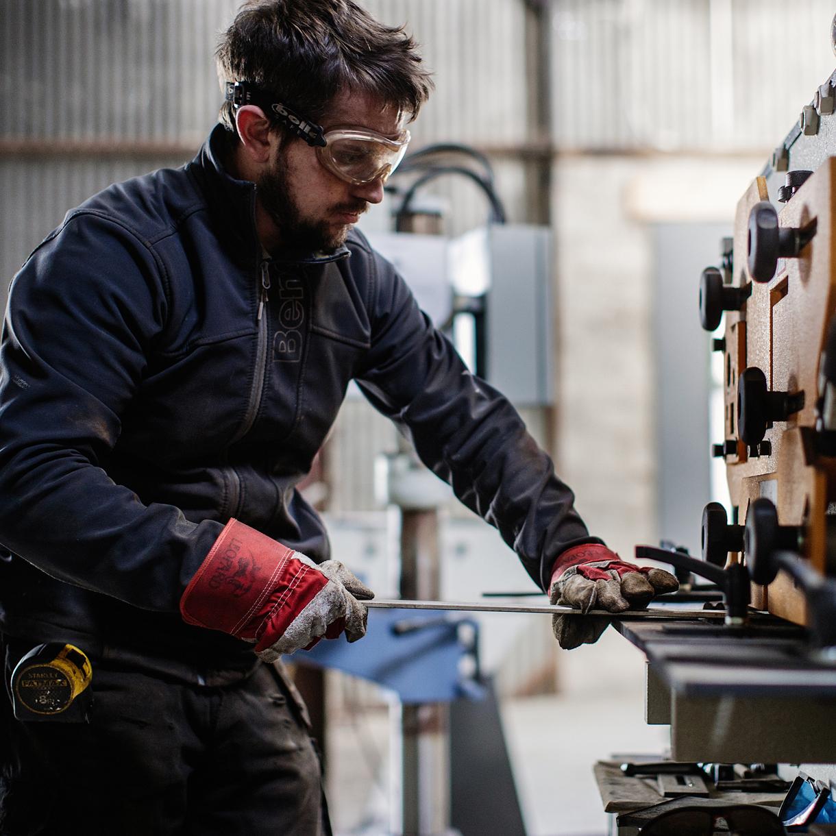Principle brand agency Dublin Shearflint Branding Project metalworker