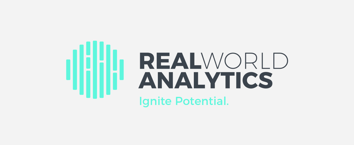 Principle brand agency Dublin Real World Analytics Brand Project logo brandmark