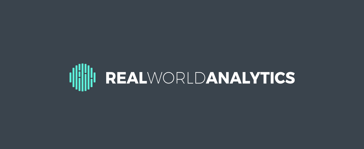 Principle brand agency Dublin Real World Analytics Brand Project logo brandmark reversed