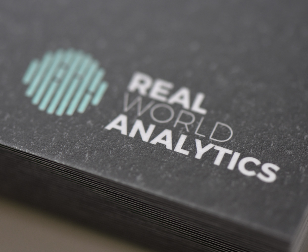 Principle brand agency Dublin Real World Analytics Brand Project logo brandmark detail