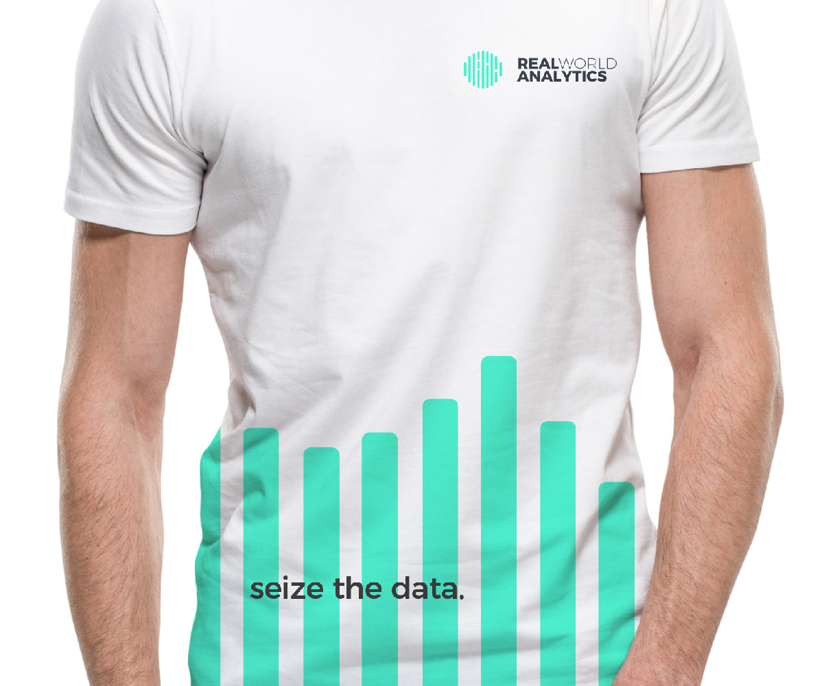 Principle brand agency Dublin Real World Analytics Brand Project t-shirt