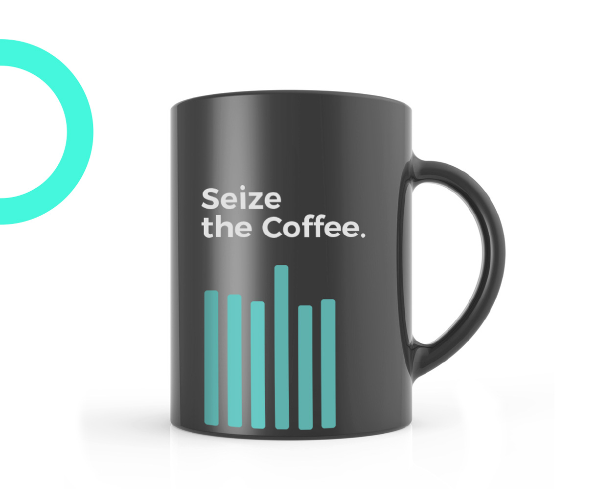 Principle brand agency Dublin Real World Analytics Brand Project coffee mug design