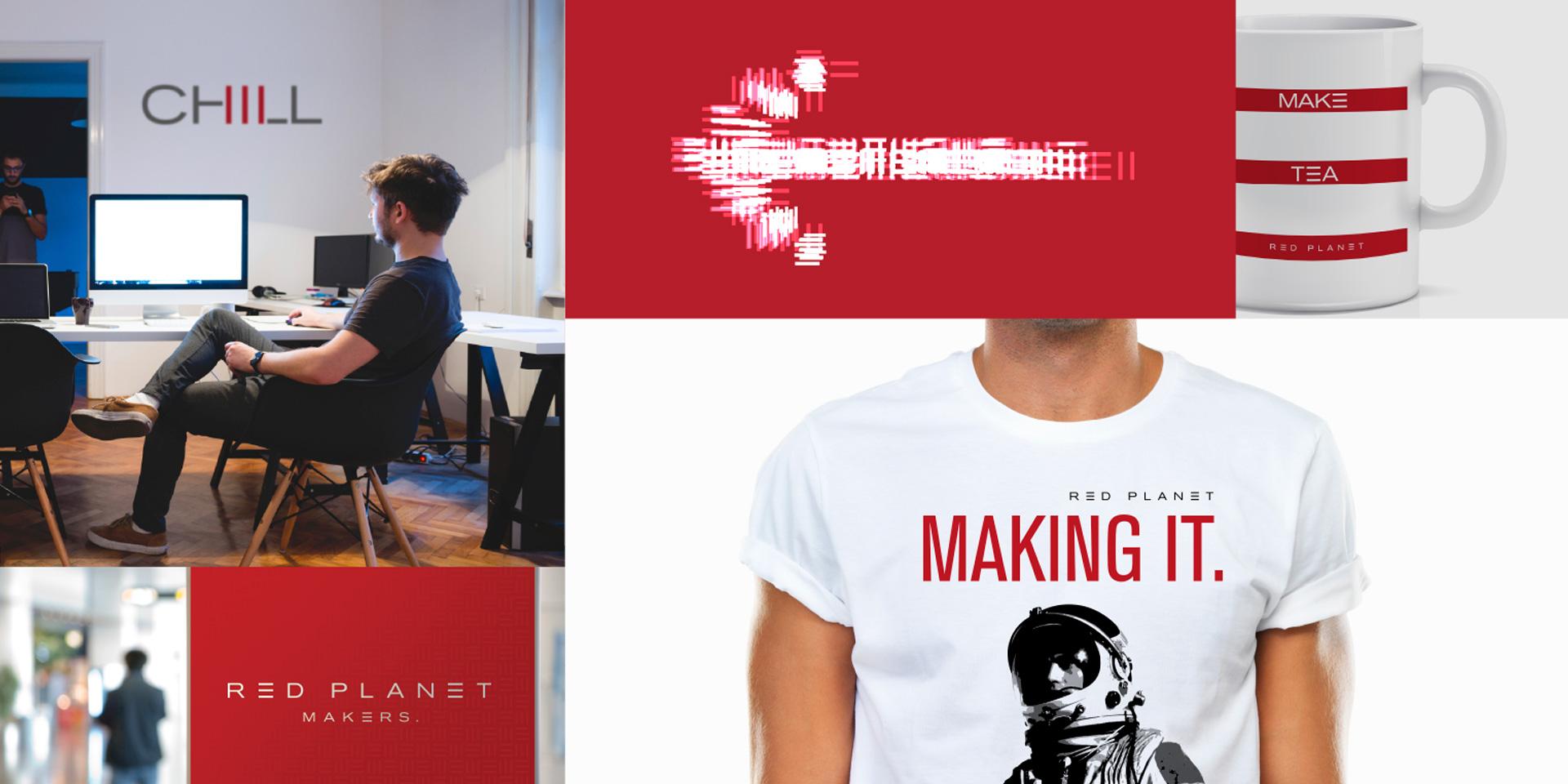 Principle brand agency Dublin Red Planet Branding Project ephemera design