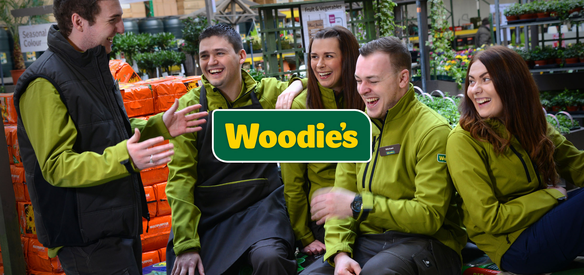 Principle brand agency Dublin Woodie's Brand Project staff group