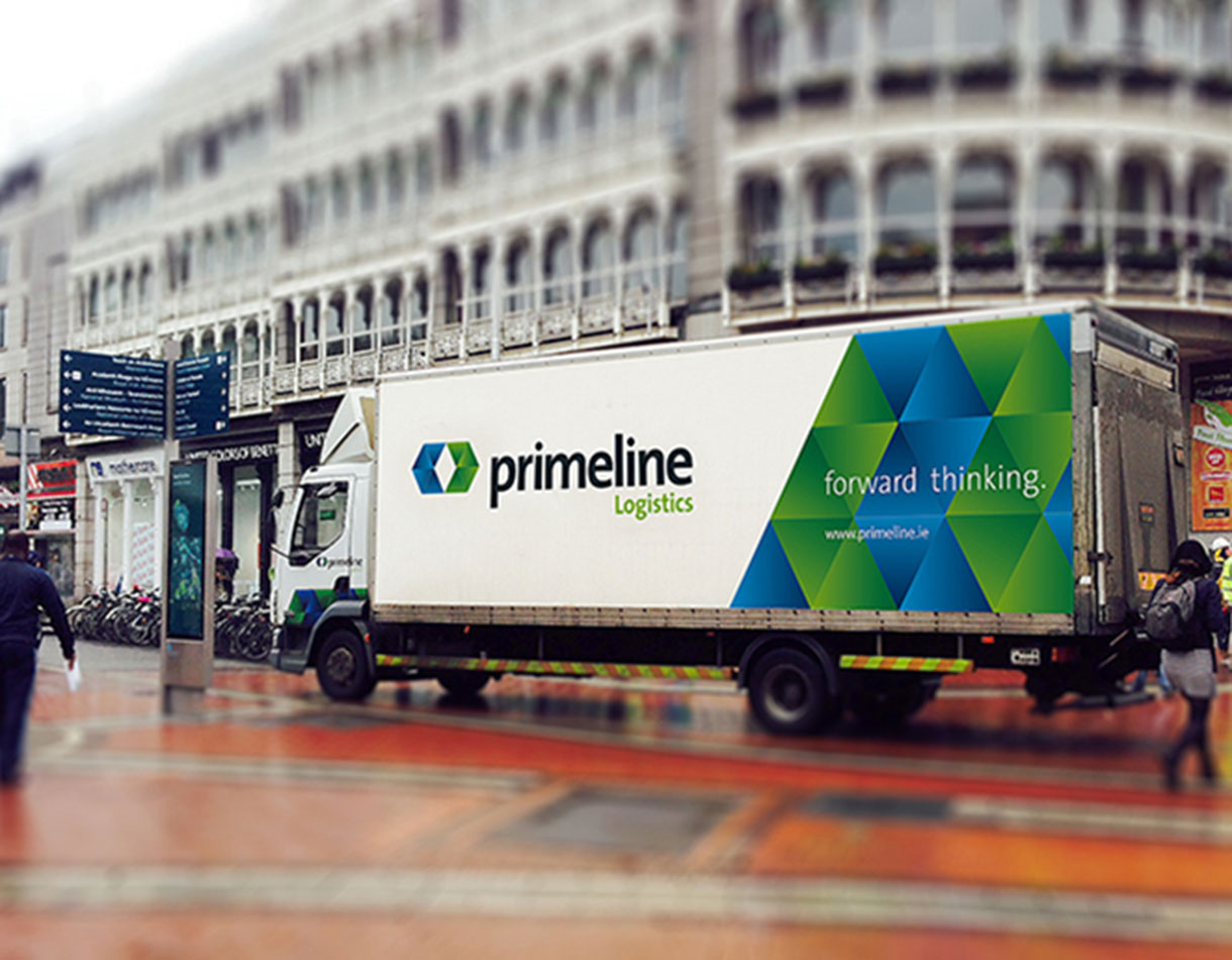 Principle Brand Agency Dublin Primeline Logistics Re Brand Project Truck Livery Design