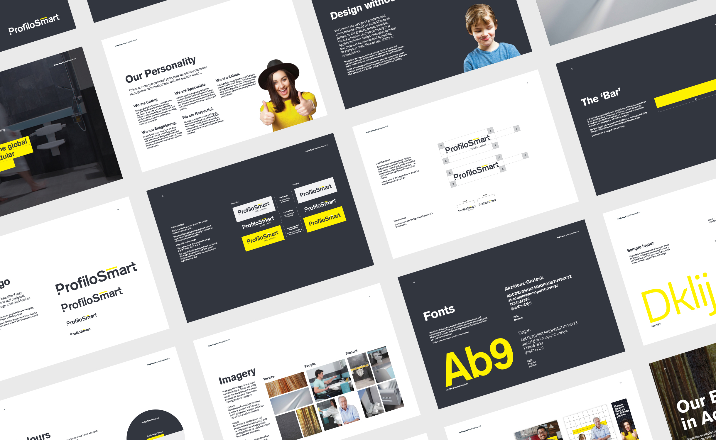 Principle brand agency Dublin Profilo Smart Branding project visual guidelines