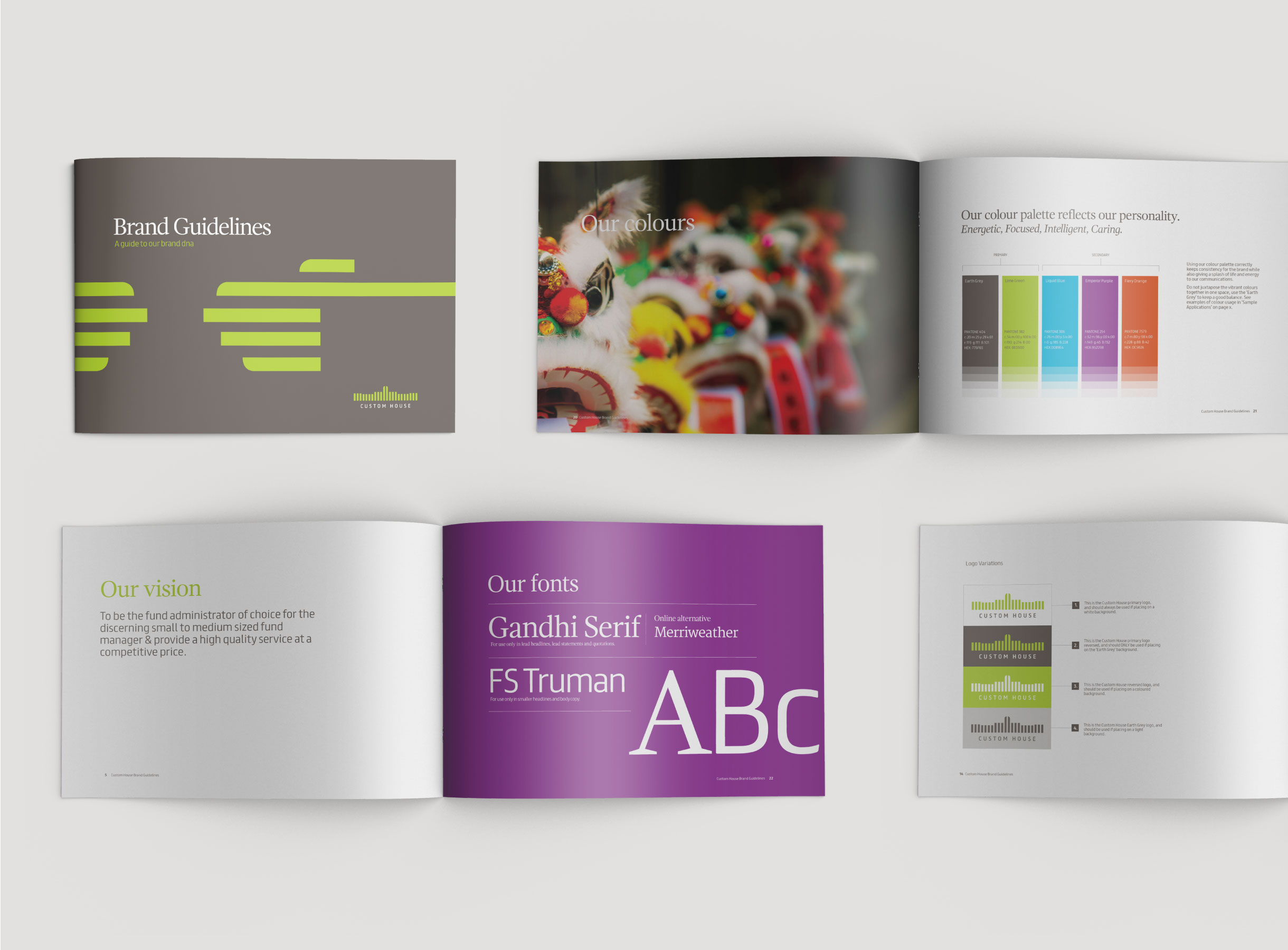 Principle brand agency Dublin Custom House Group Branding Project Visual Guidelines
