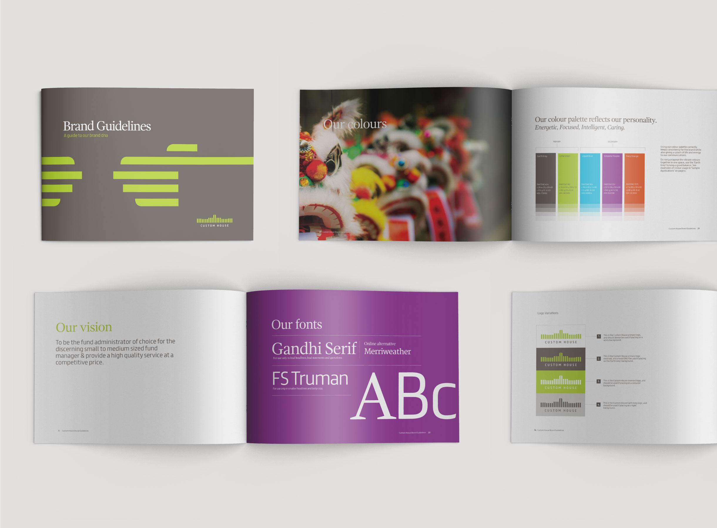 Principle brand agency Dublin Custom House Group Branding Project Visual Guidelines