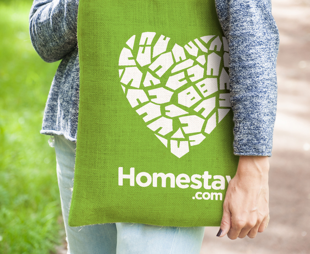 Principle brand agency Dublin homestay brand project tote bag design