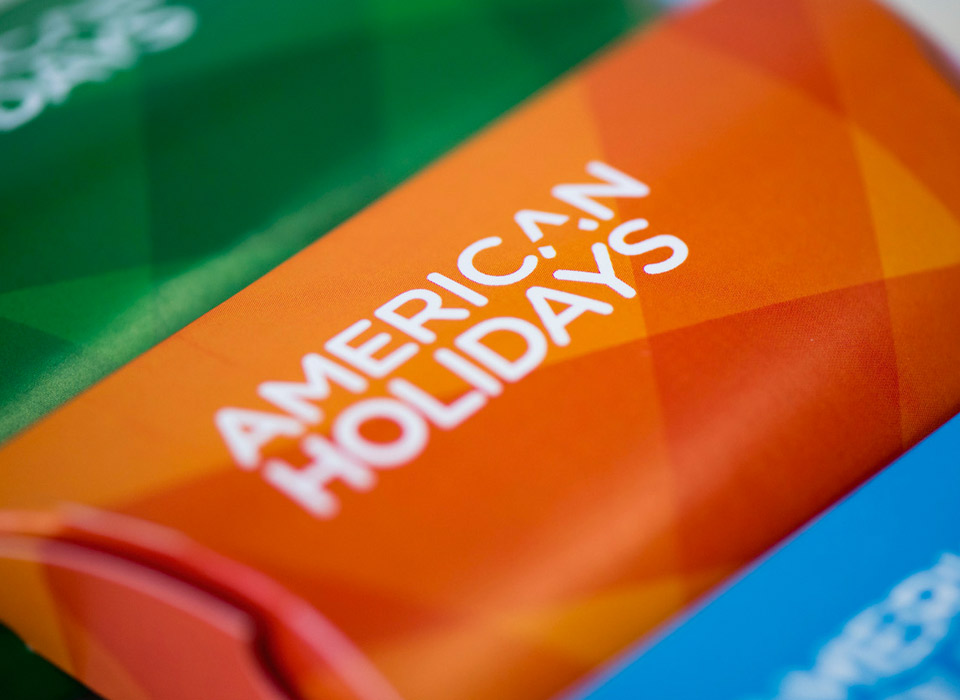 Principle brand agency Dublin American Holidays Brand Project Candy box design