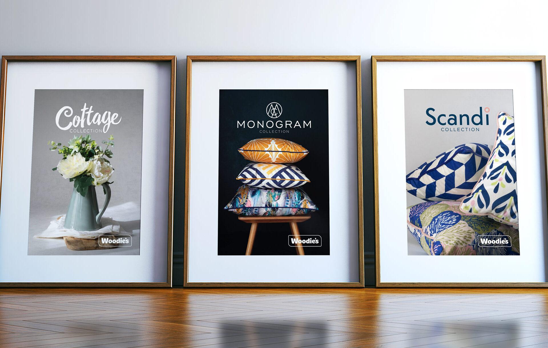 Principle brand agency Dublin Woodie's homewares brand design scandi monogram cottage picture frames