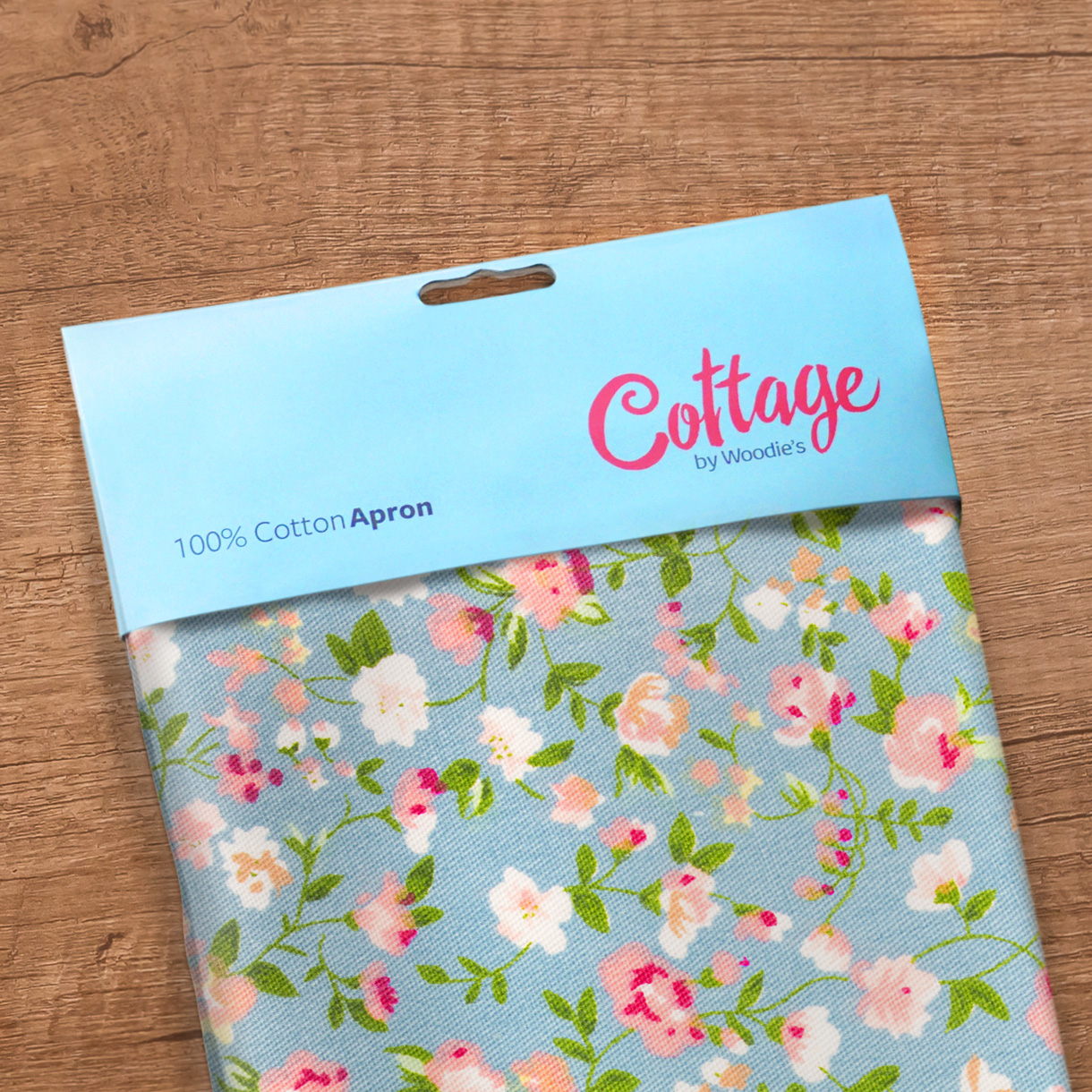 Principle brand agency Dublin Woodie's homewares brand design project cottage collection apron packaging