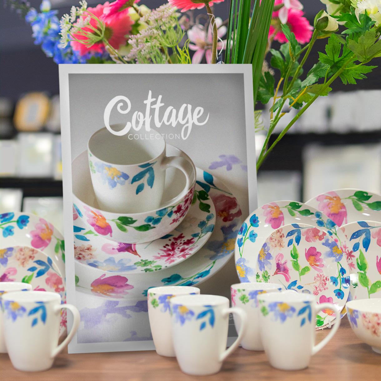 Principle brand agency Dublin Woodie's homewares brand design project cottage collection delph range