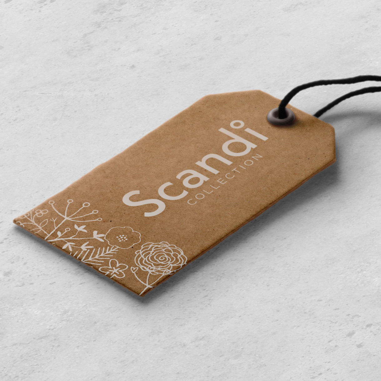 Principle brand agency Dublin Woodie's homewares brand design project scandi collection swing tag