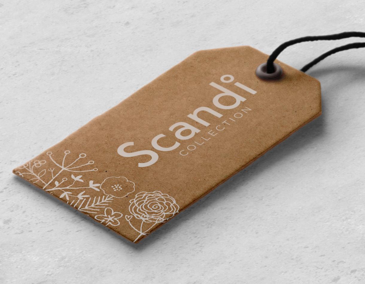 Principle design agency Dublin Woodie's homewares brand Scandi swing tag