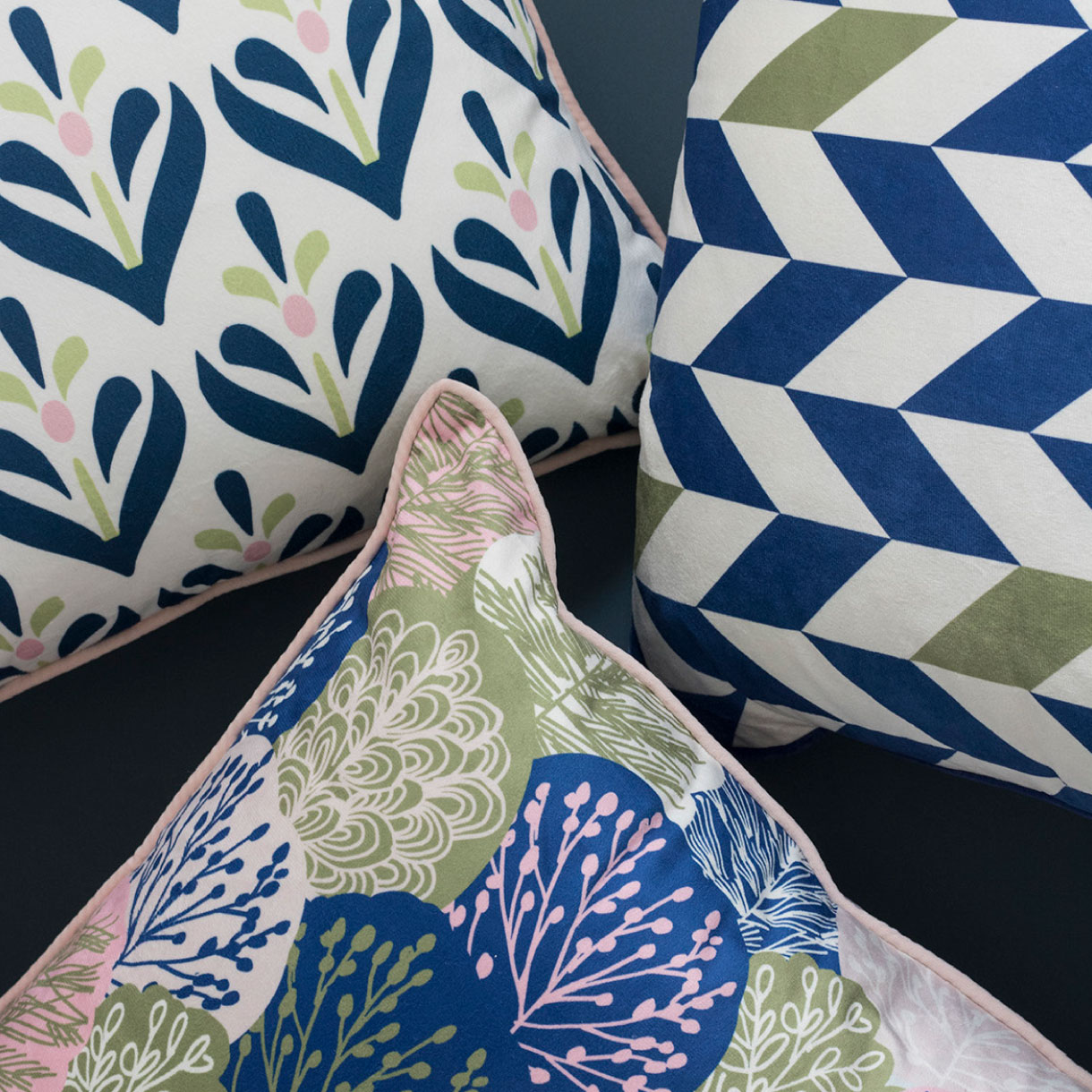 Principle brand agency Dublin Woodie's homewares brand design project scandi collection cushions