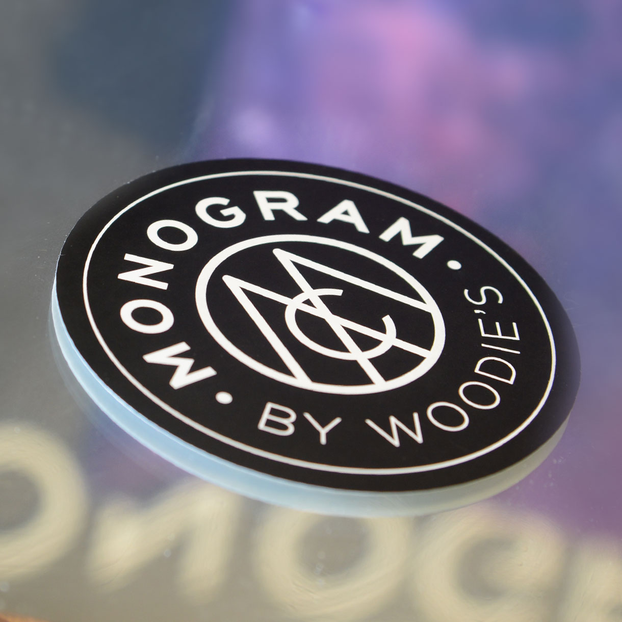 Principle brand agency Dublin Woodie's homewares brand design project monogram collection product sticker