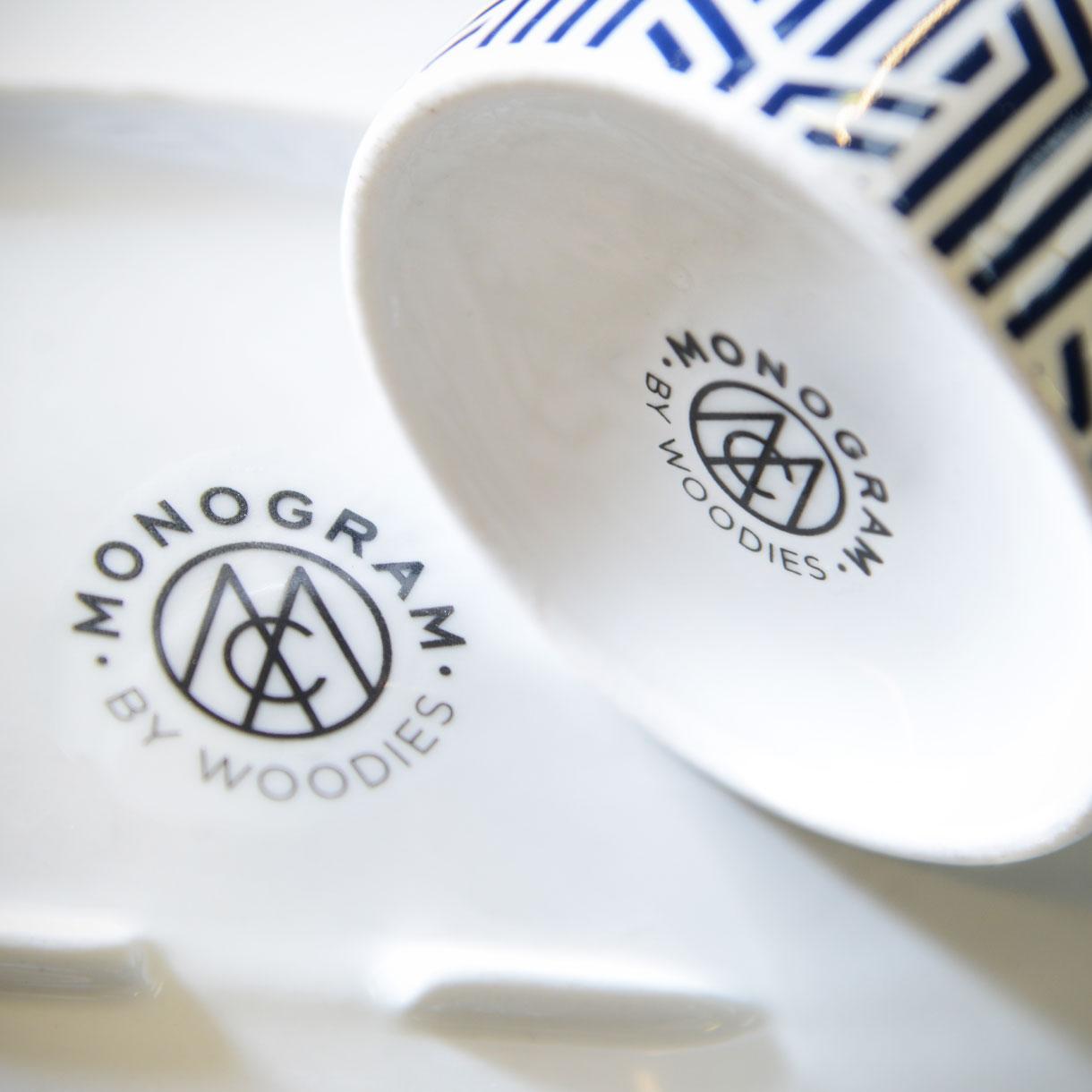 Principle brand agency Dublin Woodie's homewares brand design project monogram delph collection logo stamp
