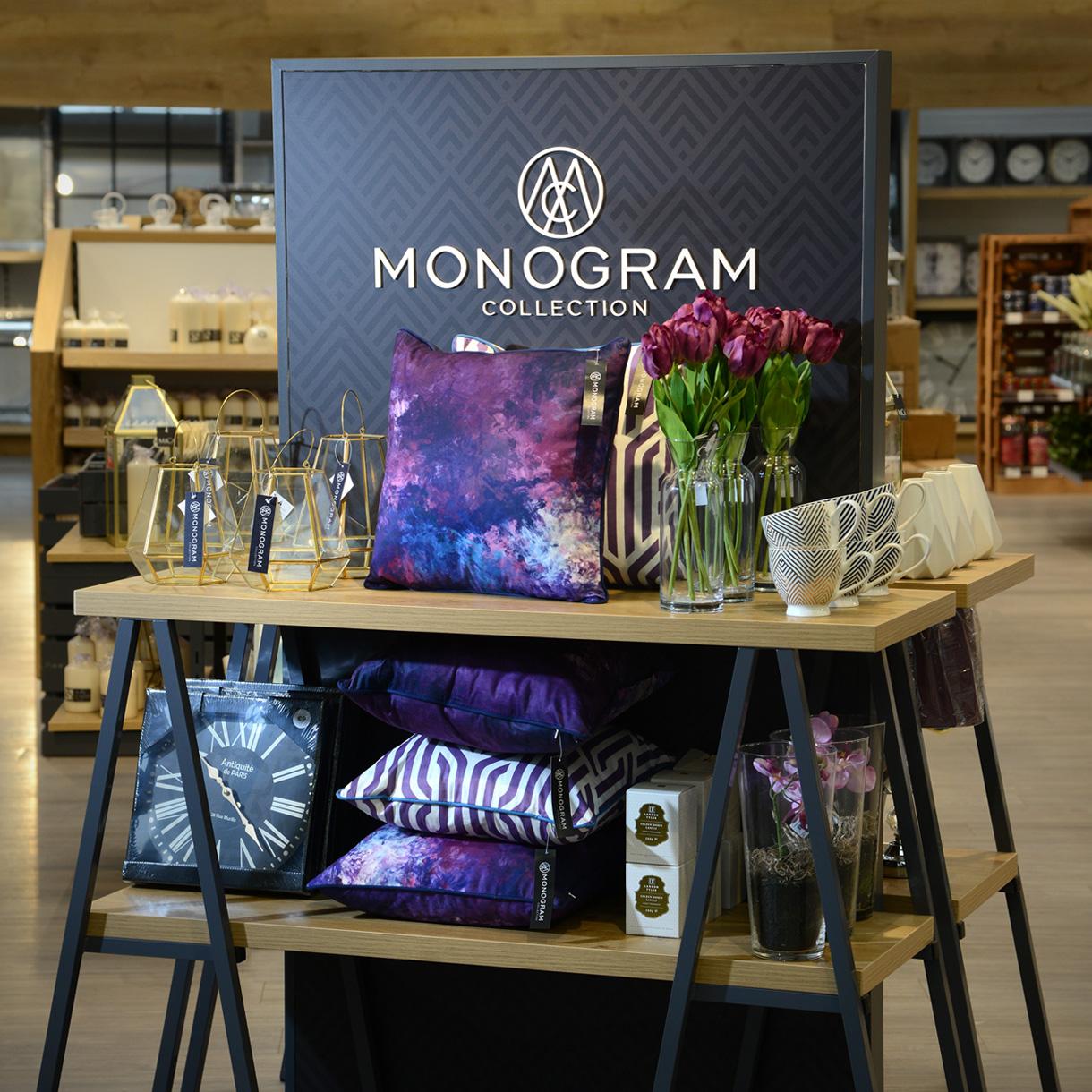 Principle brand agency Dublin Woodie's homewares brand design project monogram Instore display