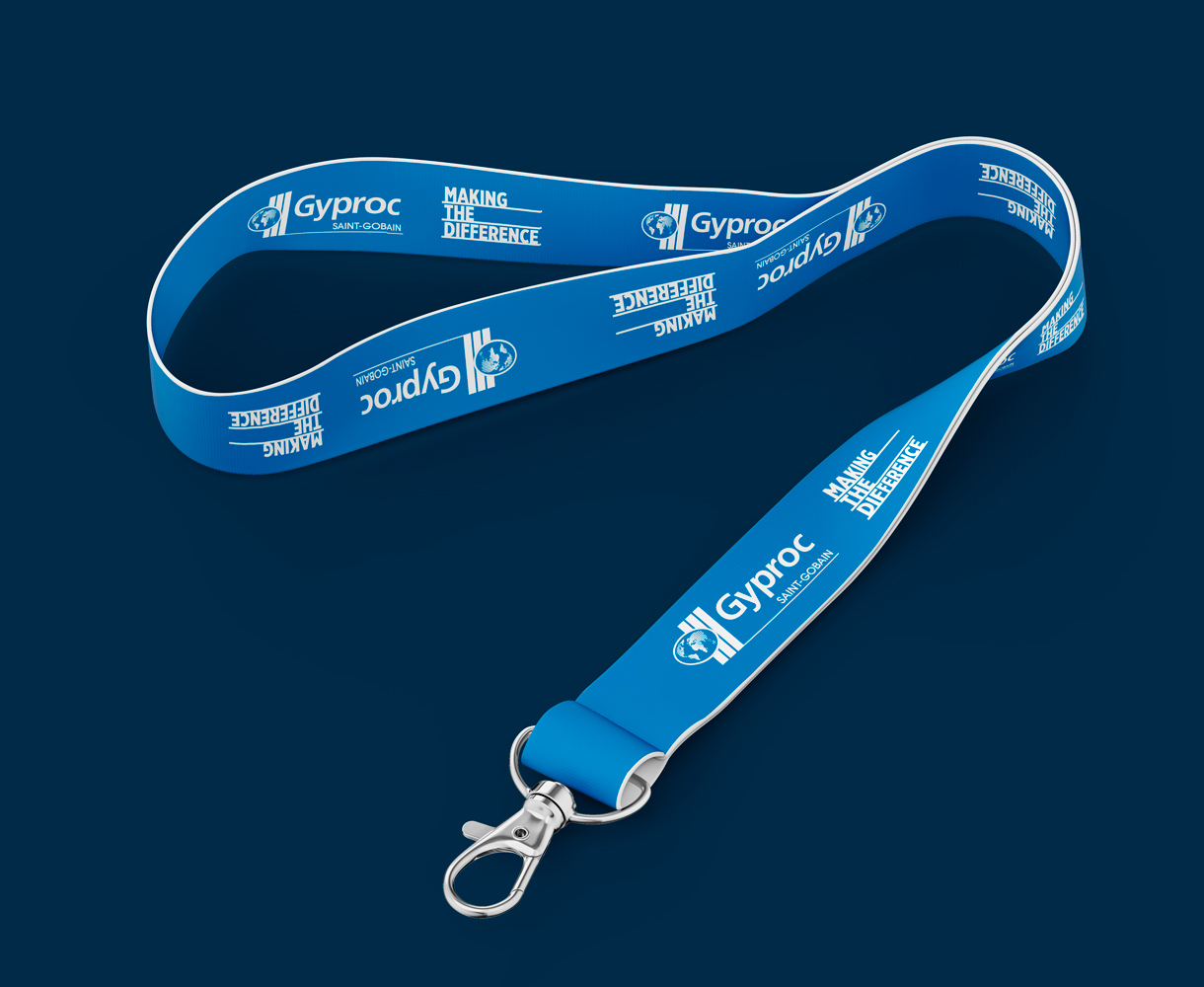 Campaign Design Gyproc Making the Difference lanyard