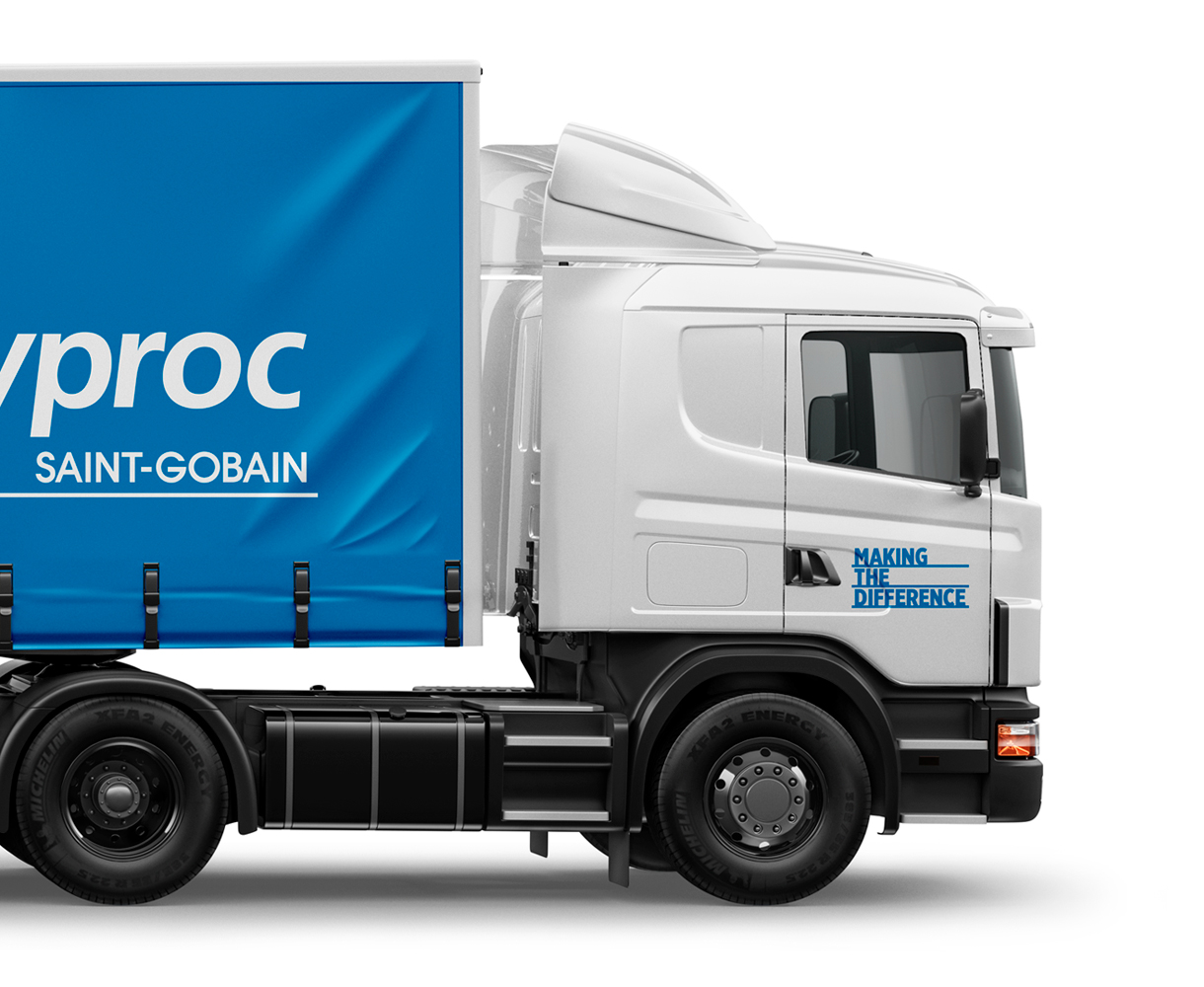 Campaign Design Gyproc Making the Difference Livery vehicle design