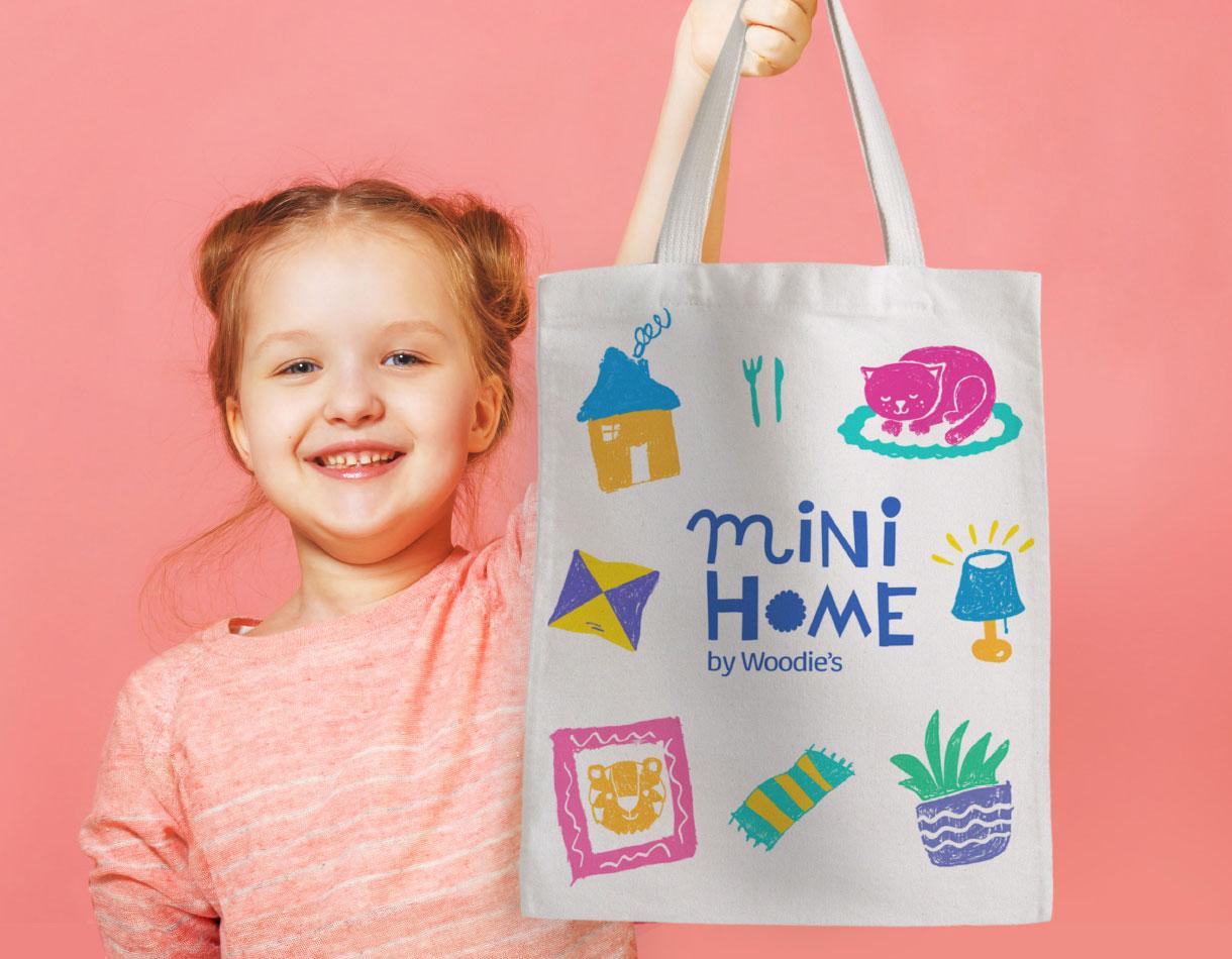 Principle Brand Design Dublin, Mini Home by Woodie's, Children's Homeware Range Branding, Lifestyle Interior Photography, Kids Furniture Identity