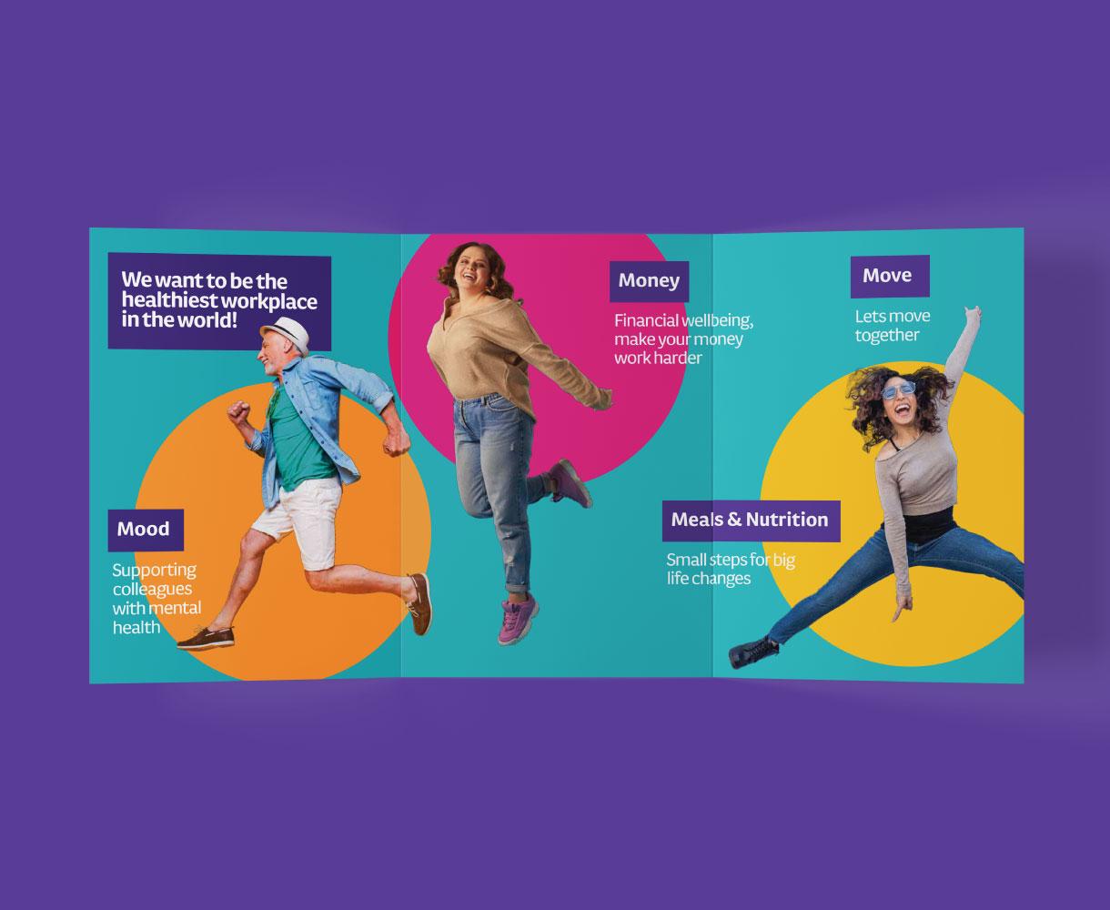 corporate wellness brand brochure design