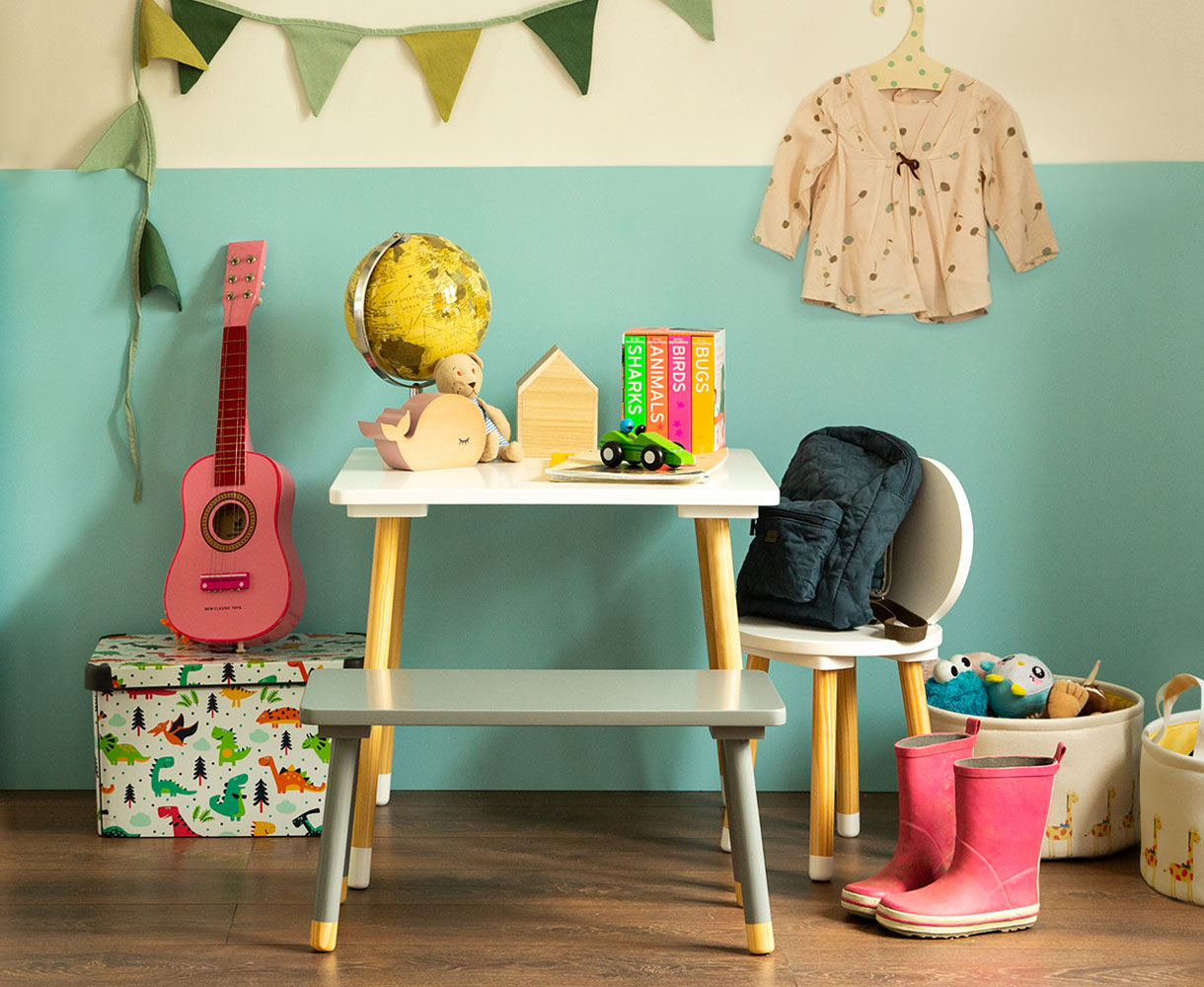 Principle Brand Design Dublin, Mini Home by Woodie's, Children's Homeware Range Branding, Lifestyle Interior Photography